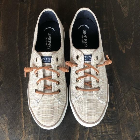 Topsider Memory Foam Sneakers Size 8